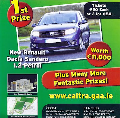 Win a Car. Buy a ticket for the Development Draw http://www.iregister.ie/caltradraw/